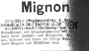Warenzeichen Mignon