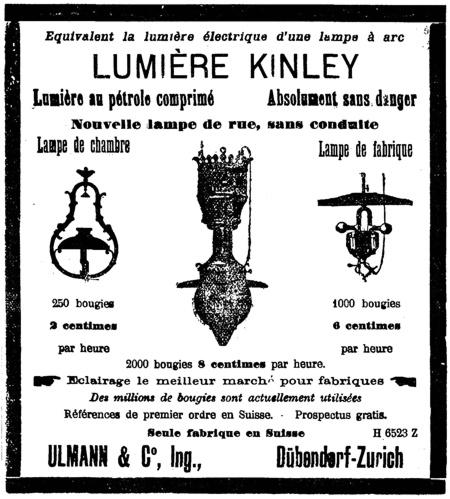 Feuille d'Avis de Neuchatel 1903 Kinley Licht