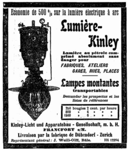 Feuille d'Avis de Neuchatel 1906 Kinley Licht