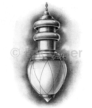 Lampe emailliert