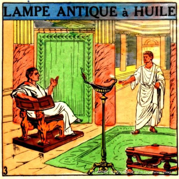 lampe antique à huile