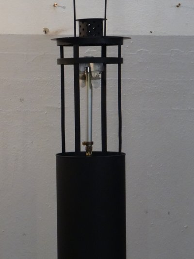 Kerzenlaterne umgebaut zur Gaslampe.