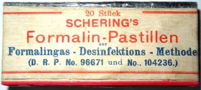 Packung Schering'scher Formalinpastillen Bild 2
