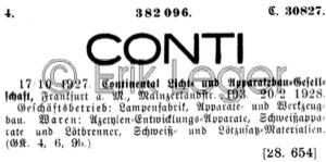 Warenzeichen Conti