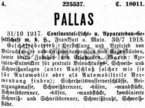 Warenzeichen Pallas